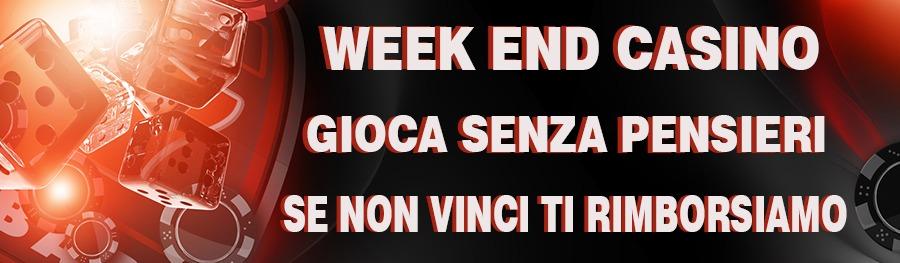 <p>WEEK END CASINO - TANTI BONUS E PROMOZIONI PER IL FINE SETTIMANA</p>